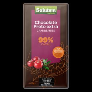 Chocolate Preto 99% C/ Cranberry S/Açúcar